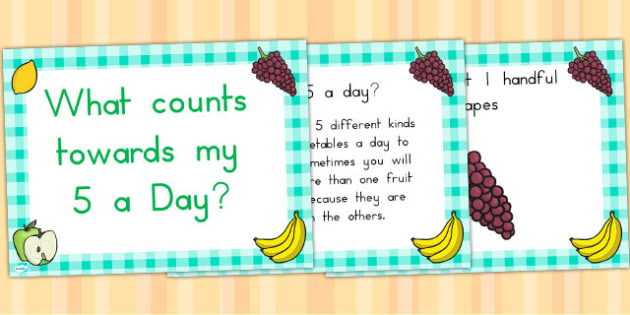 EYFS What Counts Towards My 5 a Day PowerPoint - food, health
