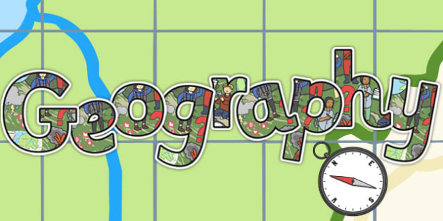 Geography Title Display Lettering - display lettering, geography