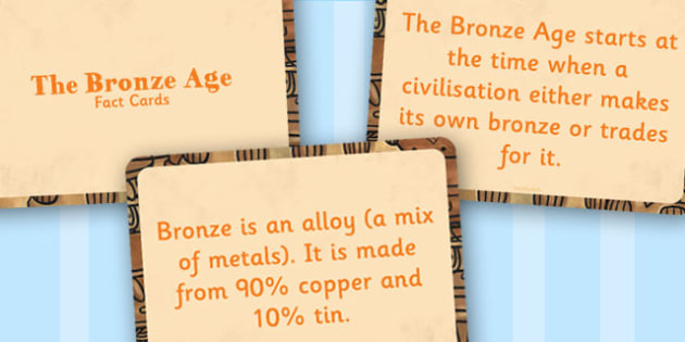 Amazing Bronze Age Display Fact Cards - bronze age facts