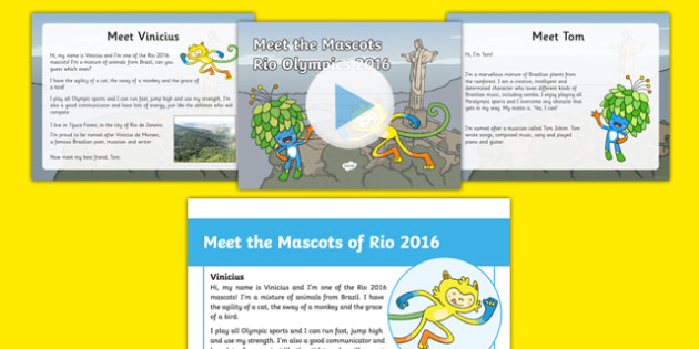 Meet the Mascots of Rio 2016 Resource Pack