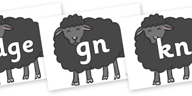 Silent Letters on Baa Baa Black Sheep - Silent Letters, silent letter, letter blend, consonant, consonants, digraph, trigraph, A-Z letters, literacy, alphabet, letters, alternative sounds