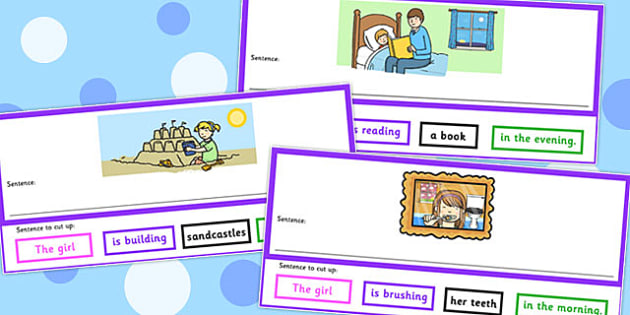Who What Doing To What When Sentence Cut Up Cards - sentence