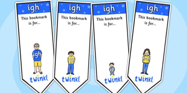 igh Sound Family Editable Bookmarks - igh sound family, editable bookmarks, bookmarks, editable, behaviour management, classroom management, rewards, award