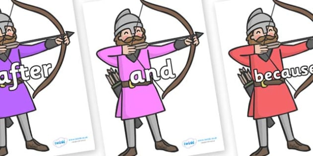 Connectives on Archers - Connectives, VCOP, connective resources, connectives display words, connective displays