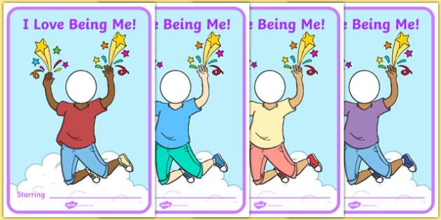 I Love Being Me Display Poster - usa, america, i like myself, all about me, i love being me, display poster