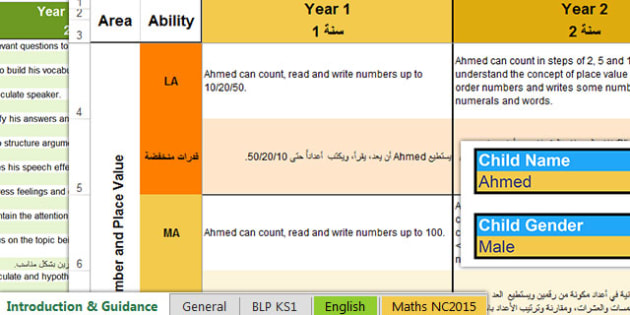 Report Writing Bank of Statements All Subjects Year 1 to 6 Arabic Translation - arabic, differentiated, report, statements