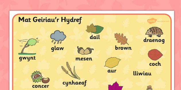 Mat Geiriau 'Y Tywydd' - seasons, visual aid, wales