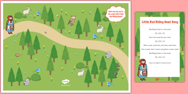 Little Red Riding Hood Song Poster Pack - little red riding hood, song, poster, pack