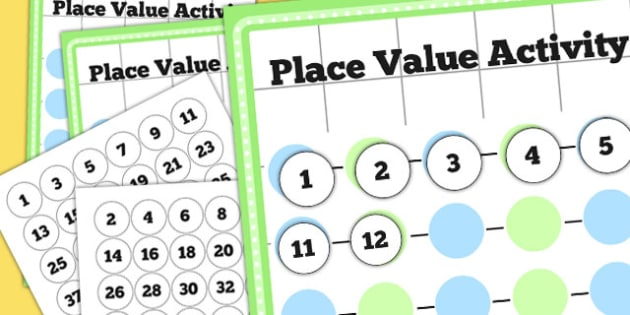 Place Value Activity to 50 - numeracy, maths, place value, game