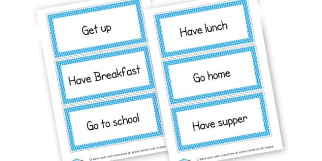 Sequencing Daily Events - Home Routine and Timetable, Resource, Home School, Discipline