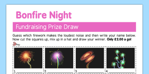 Guess the Firework Fundraising Sheet - guess, firework, fundraising, sheet, bonfire night