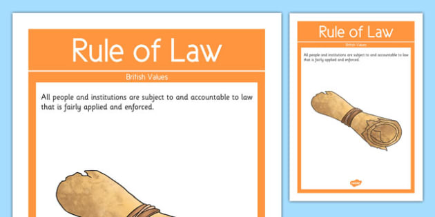 Rule of Law British Values Display Poster - british values, display poster, display, poster, rule of law