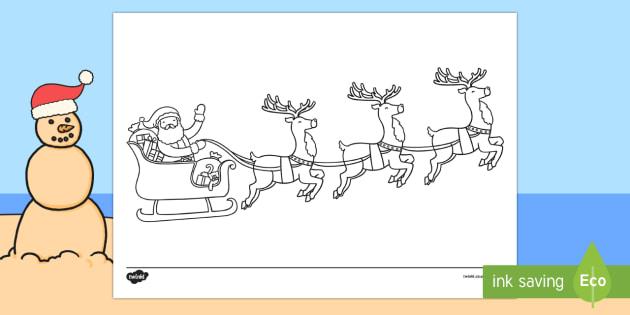 Reindeer Listen and Colour Activity Sheet