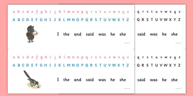 Beatrix Potter - The Tale of the Pie and the Patty-Pan Alphabet Strips - beatrix potter, pie, patty pan, alphabet strips