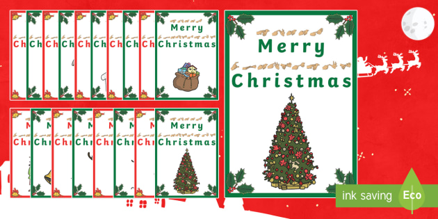 BSL Christmas Gift Card Template