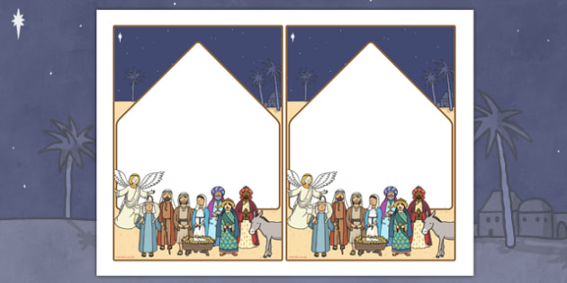 The Nativity Editable Notes - nativity, note, editable, christmas