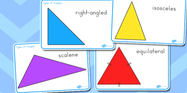 Types of Triangles Display Posters - australia, types, triangles, display
