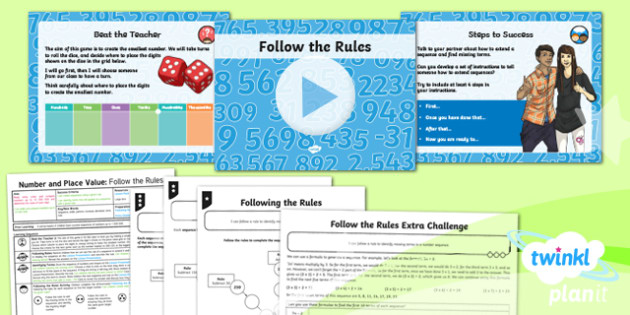 PlanIt Y6 Number and Place Value Lesson Pack Number Sequences (2) - Number, Place Value, sequence, pattern, term, rule