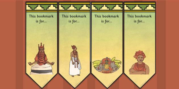History of Benin Edo Version of Events Editable Bookmarks