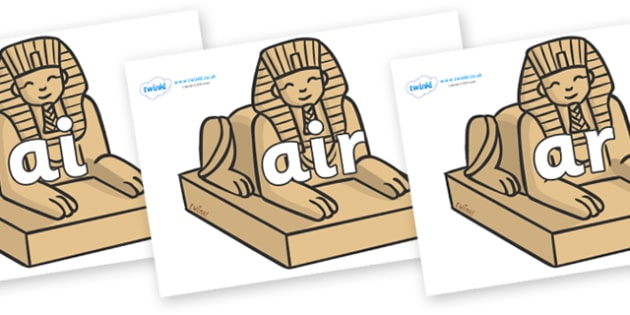 Phase 3 Phonemes on Sphinx - Phonemes, phoneme, Phase 3, Phase three, Foundation, Literacy, Letters and Sounds, DfES, display