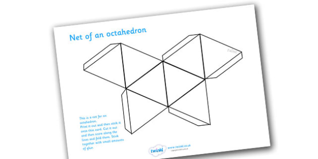 Net Of An Octahedron - net, octahedron, platonic solids, activity, building, creative