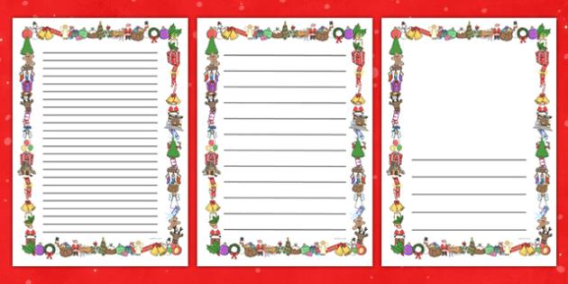 Christmas Themed Page Border - christmas, page border, borders