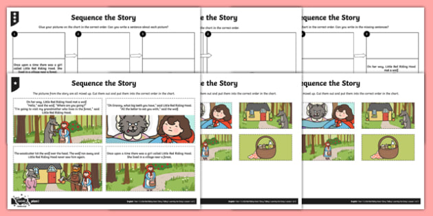 Little Red Riding Hood Sequence The Story Activity Sheet Pack, worksheet