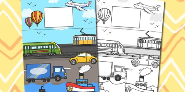 Transport Themed Calendar Template - calendar, transport, year