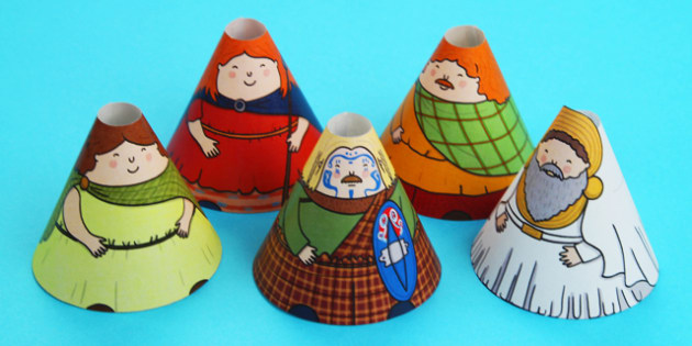Iron Age Cone Characters - iron, age, cone, characters, iron age