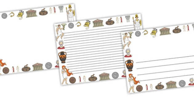 Ancient Greece Full Page Borders (Landscape) - page border, border, frame, writing frame, ancient greece, greece, ancient greece page borders, ancient greece writing frames, writing template, writing aid, writing, A4 page, page edge, writing activiti