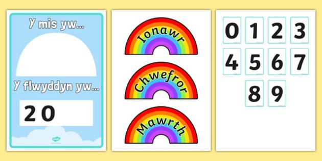 Poster Enfys Mis a Blwyddyn - welsh, cymraeg, poster, enfys, mis, blwyddyn