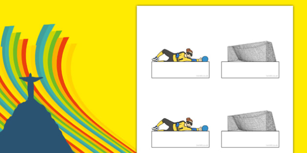 The Paralympics Editable Goalball Self Registration - Paralympics, sports, wheelchair, visually impaired, Self registration, register, editable, labels, registration, child name label, printable labels, 2012, London, Olympics, events, medal, compete,
