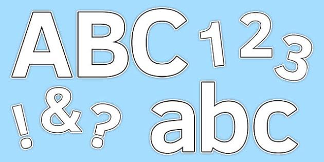 Blank Display Numbers - display numbers, class display, numbers