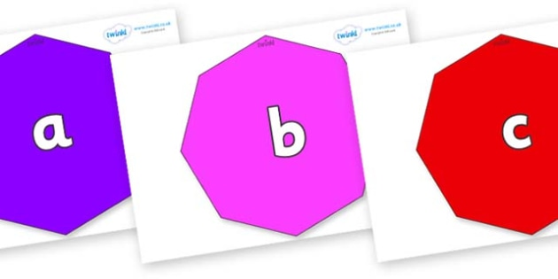 Phase 2 Phonemes on Octagons - Phonemes, phoneme, Phase 2, Phase two, Foundation, Literacy, Letters and Sounds, DfES, display