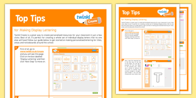 Using Twinkl Create to Make Display Lettering Top Tips