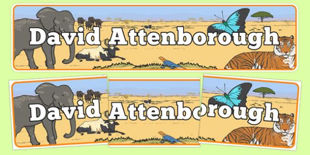 David Attenborough Display Banner - david attenborough, display banner, display, banner