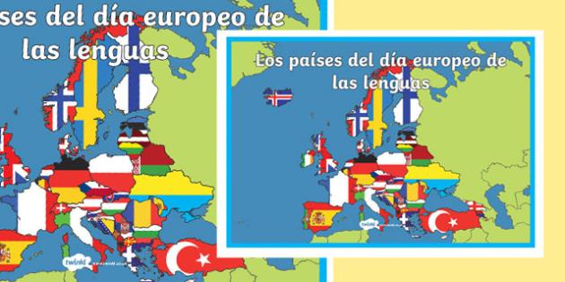 El día europeo de las lenguas A2 Display Poster-Spanish