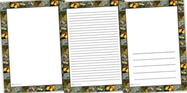 Autumn Photo Page Borders - autumn, photo page borders, page borders, writing frames, writing templates, lined page, writing guides, seasons, writing, guide