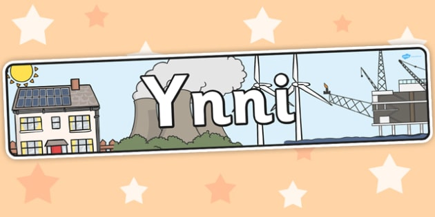 Energy Themed Banner Welsh - energy, displays, banners