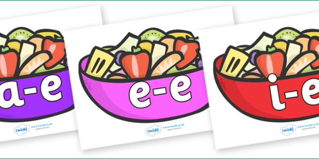 Modifying E Letters on Fruit Salad - Modifying E, letters, modify, Phase 5, Phase five, alternative spellings for phonemes, DfES letters and Sounds