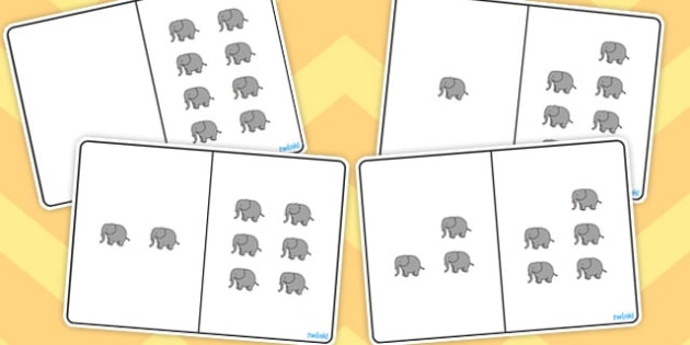 Elephant Counting Number Bonds to 8 - number bonds, counting