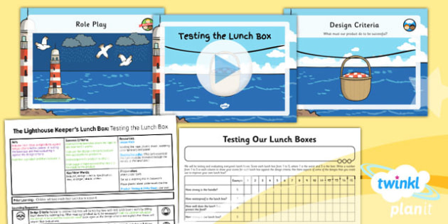 PlanIt - DT KS1 - The Lighthouse Keeper's Lunch Box Lesson 5: Testing the Lunch Box Lesson Pack