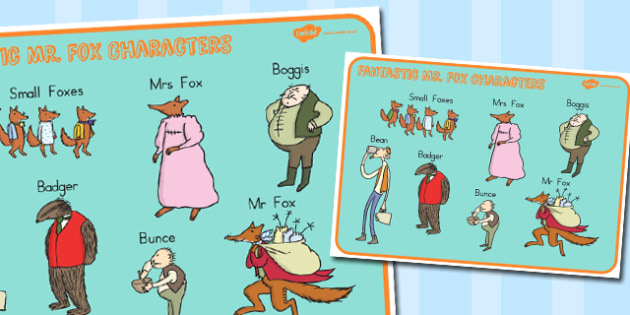 Character Word Mat to Support Teaching on Fantastic Mr. Fox - australia, fantastic mr fox