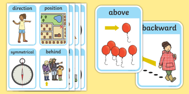 CfE Early Level Numeracy and Mathematics Angle, Symmetry and Transformation Keyword Flashcards-Scottish