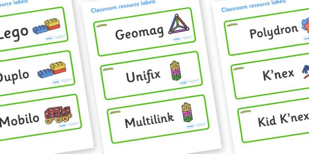 Caterpillar Themed Editable Construction Area Resource Labels - Themed Construction resource labels, Label template, Resource Label, Name Labels, Editable Labels, Drawer Labels, KS1 Labels, Foundation Labels, Foundation Stage Labels