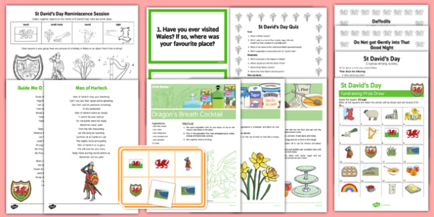 Elderly Care St David's Day Resource Pack - Elderly, Reminiscence, Care Homes, St. David's Day