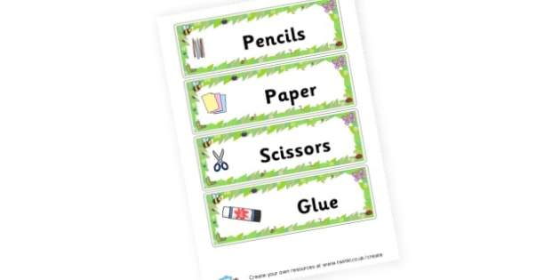 Minibeast Themed Draw Labels - Drawer Peg Labels Minibeasts Primary Resources, insects, bugs,