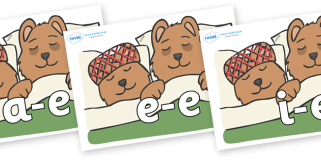 Modifying E Letters on Mummy & Daddy Bear - Modifying E, letters, modify, Phase 5, Phase five, alternative spellings for phonemes, DfES letters and Sounds