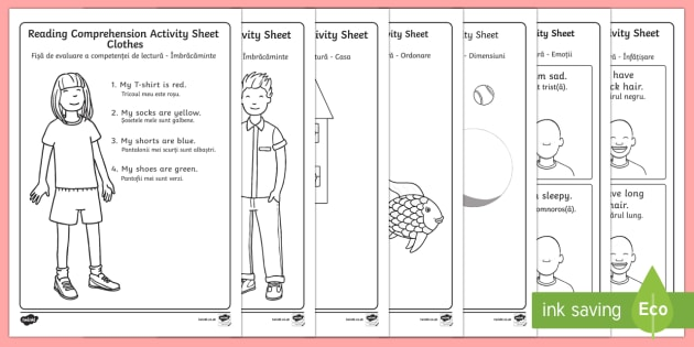 Reading Comprehension Worksheets English/Romanian