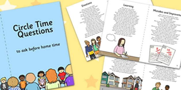 100 Circle Time Questions to Ask Before Home Time Booklet - circle time